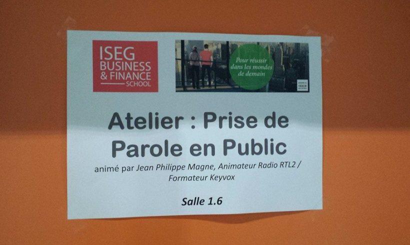 Atelier Prise de Parole ISEG BFS